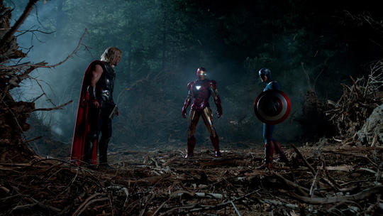 Thor, Iron Man, Captain America