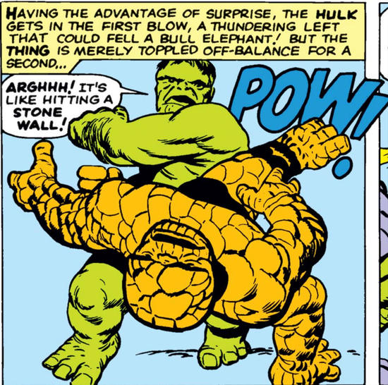 Hulk versus Thing