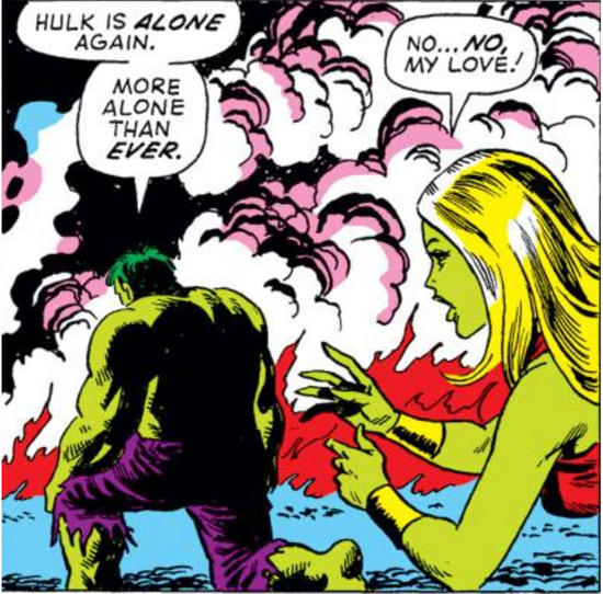 Hulk feeling alone