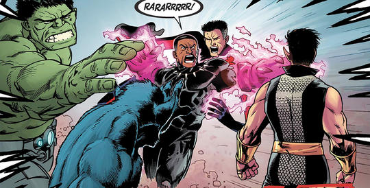 Black Panther & The Avengers in Battle