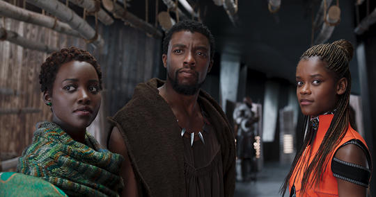 T'Challa, Nakia, and Shuri