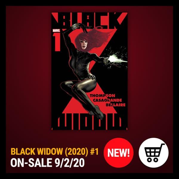 Marvel Insider BLACK WIDOW (2020) #1 On Sale September 2, 2020