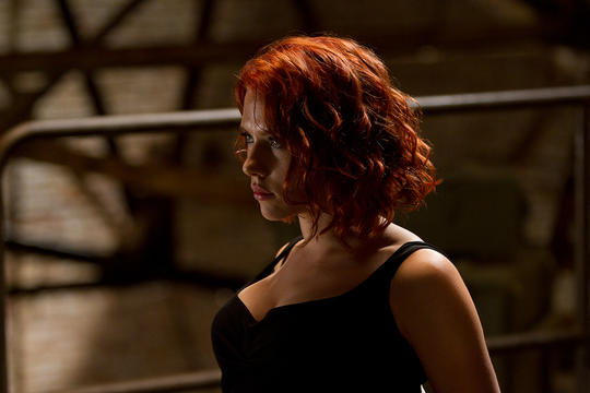 Natasha interrogating a spy
