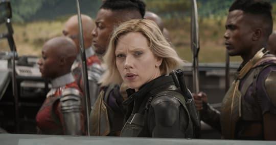 Natasha in Wakanda, ready to face down Thanos