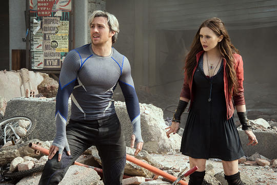 Scarlet Witch and Pietro Maximoff in Sokovia