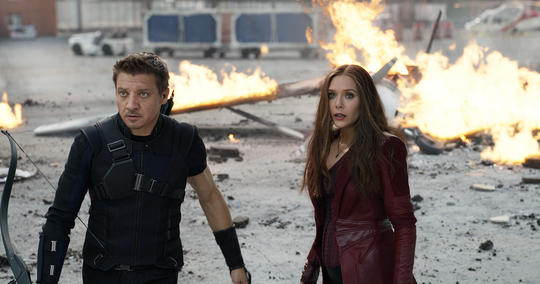 Hawkeye and Scarlet Witch Civil War