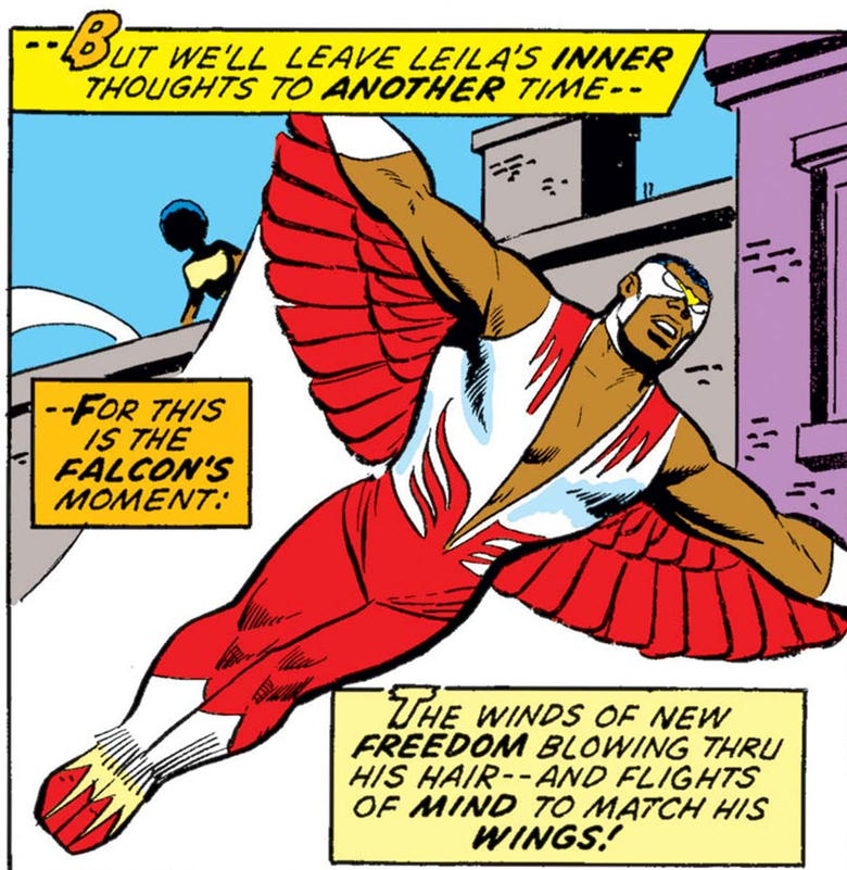 Falcon gets his wings.