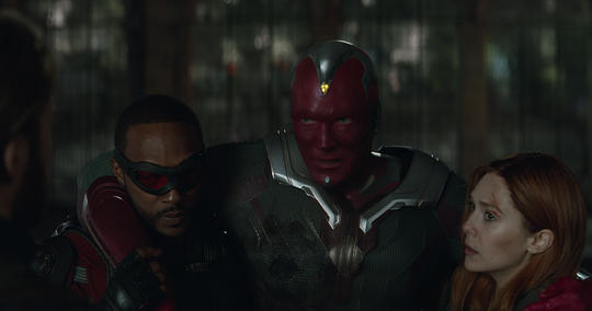 Falcon, Vision and Scarlet Witch