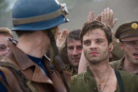 Bucky Barnes rescued by Steve Rogers