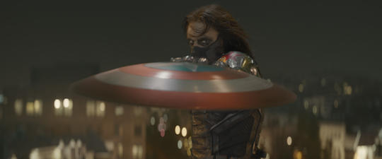 Winter Soldier (Bucky Barnes) and his metallic arm