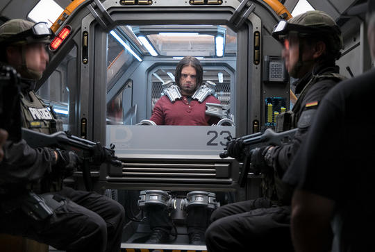 Winter Soldier (Bucky Barnes) in custody
