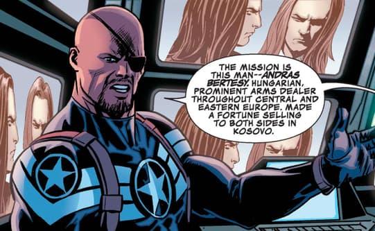 Nick Fury Jr. briefs his team