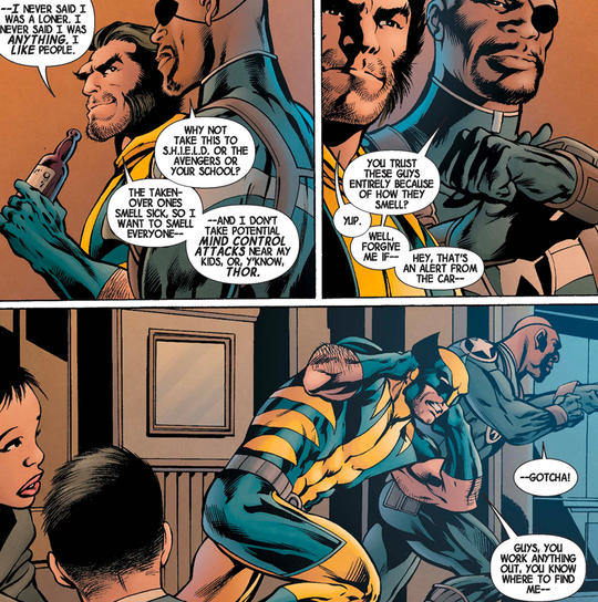 Nick Fury Jr. & Wolverine