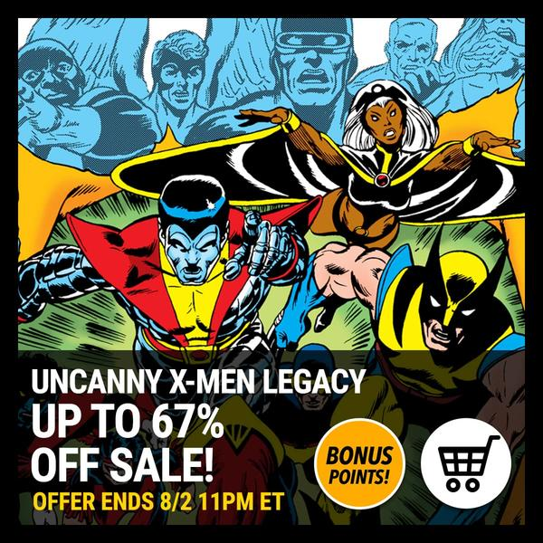 Marvel Insider UNCANNY X-MEN Legacy Sale Digital Comics Marvel Comics App Up To 67% Off