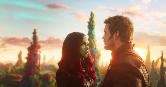 Gamora & Peter Quill (Star-Lord) Get Close