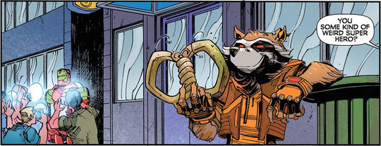 Rocket Raccoon In Comics Full Report Page Divider