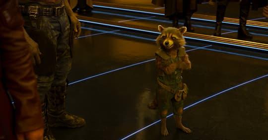 Rocket Raccoon in Uniform