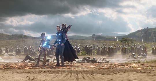 Rocket Raccoon, Groot, & Thor