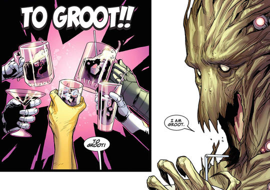 Cheers to Groot