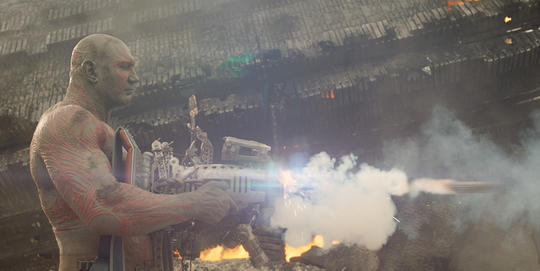 Drax firing a weapon