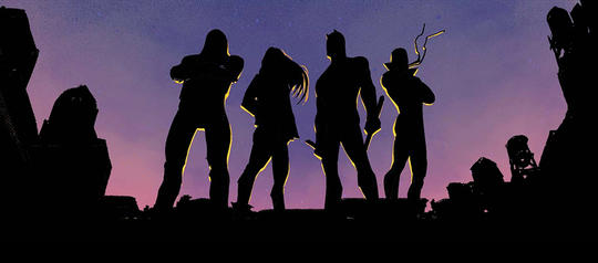 Silhouette of the Defenders