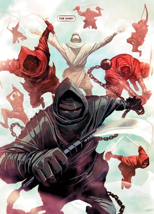 The Hand seeks to bring Elektra under their control.