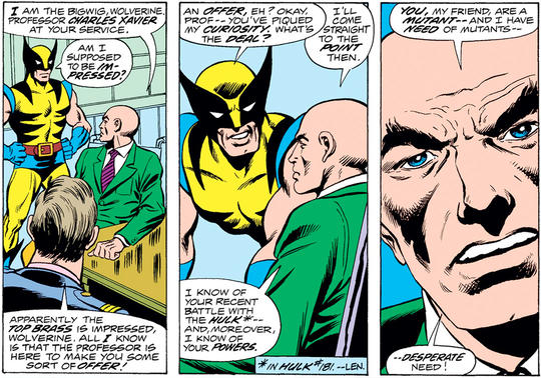 Professor X and Wolverine