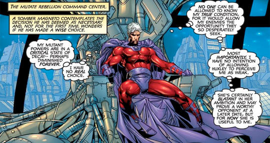 Magneto and the mutate rebellion command center