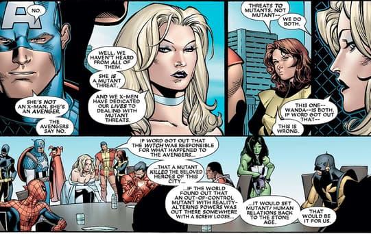 Avengers vs X-Men regarding Scarlet Witch