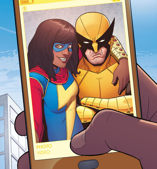 Ms. Marvel (Kamala Khan) and Wolverine