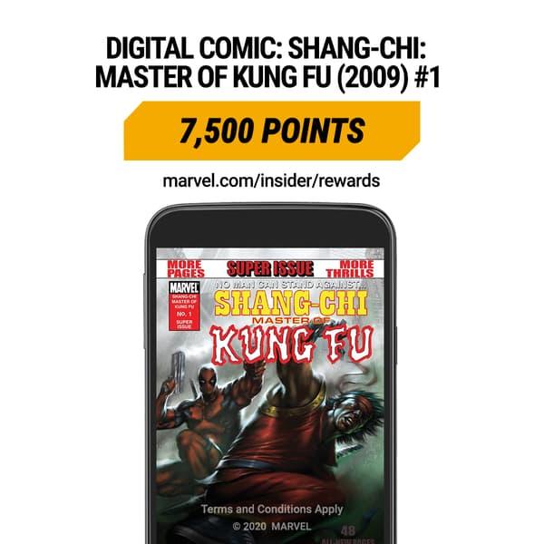 Marvel Insider Digital Comic Rewards SHANG-CHI: MASTER OF KUNG FU (2009) #1