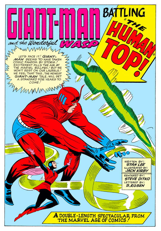 GIant-Man and the Wasp battling the Human Top