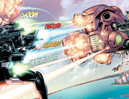 War Machine unleashes his weapons