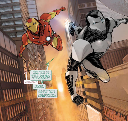 War Machine and Iron Man