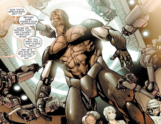 James Rhodes dons the War Machine Suit