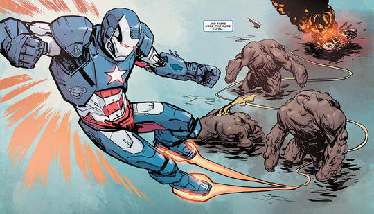 War Machine fighting as Iron Patriot