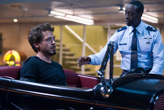 "James ""Rhodey"" Rhodes with Iron Man (Tony Stark)"