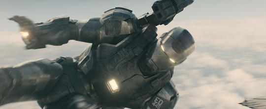 James Rhodes in the War Machine Suit
