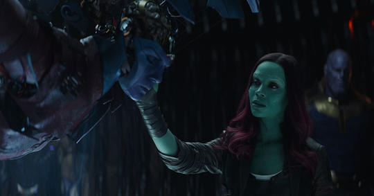 Gamora seeing Nebula being tortured by Thanos