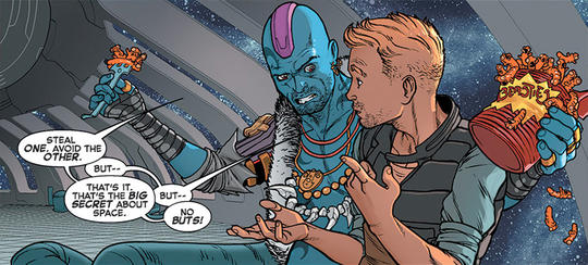 Yondu finds Quill