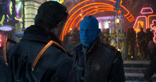 Yondu talking to Stakar Ogord
