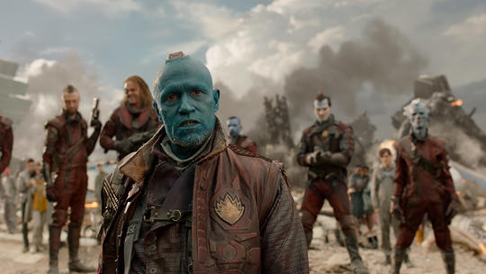 Yondu after the battle on Nova
