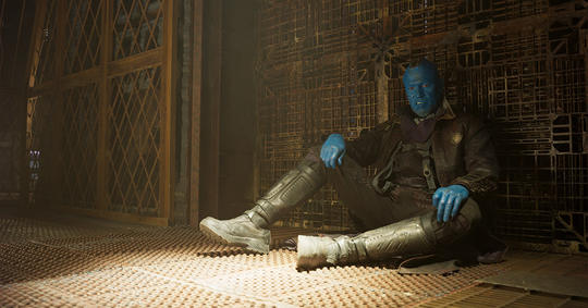 Yondu sitting on the floor