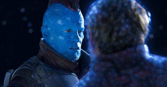 Yondu saving Peter Quill