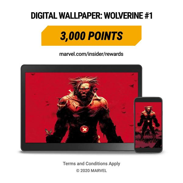 Marvel Insider Rewards: 3000 Points WOLVERINE #1 Digital Wallpaper Backgrounds