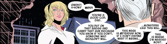Gwen reveals her identity to her Father