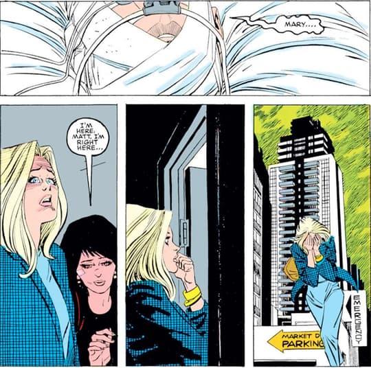 Matthew murdock (Daredevil) asks for Mary over Karen Page