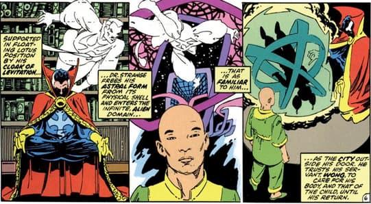 Wong Helps Dr. Strange
