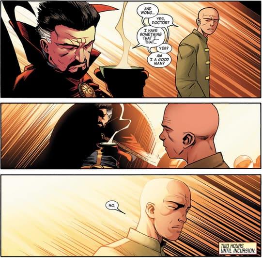 Dr. Strange Confronts Wong