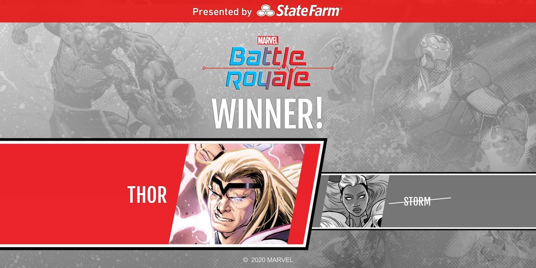 Marvel Battle Royale 2020 Winner Thor Round 1 Match 8
